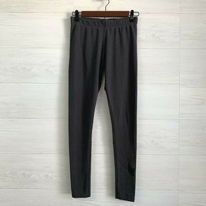 Nike Charcoal Gray Black Swoosh Leggings